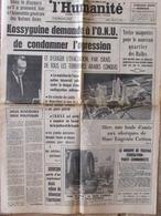 Journal L'Humanité (20 Juin 1967) Condamner L'agression Israël - Les Halles - Telescaphe Marseille - 1950 - Heute