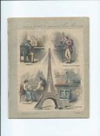 1891 Tour EIFFEL L'ÉLECTRICITE Cahier Complet Excellent état  Protège-cahier Couverture 225 X 175 Mm 4 Scans - Protège-cahiers