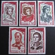 DF50500/321 - 1961 - COMEDIENS FRANCAIS - N°1301 à 1305 NEUFS** - Ungebraucht