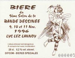 LOISEL : Etiquette BIERE Salon LYS LEZ LANNOY 1996 , Numérotée - Loisel