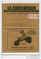 """Belgique: Bande D'envoi Pour Journal """" La Chronique """" 1953 Affr.3xPO632 -peu Courant-(format A4)  >>> - Stamped Stationery"""