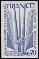 FRANCE Essais  1854 Essai En Bleu: Service De Déminage - Essais