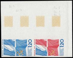 FRANCE Essais  1859 Paire D'essais En Polychrome, Cdf: France - Urss - Essais