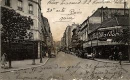 CPA Paris Rue De Ménilmontant - Animée - Arrondissement: 20