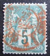 DF50500/323 - SAGE TYPE II N°75 - SUPERBE Cachet à Date ROUGE Des IMPRIMES / PARIS 28 JUILLET 1877 - TRES BON CENTRAGE - 1876-1898 Sage (Type II)