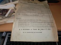Serbische Wojwodschaft U Temeser Banat  Kreis Neusatz Limitation Tabelle  Militaer Erarial Peterwardeiner Garnisons 1855 - Historical Documents