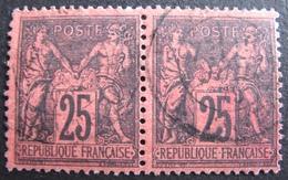 DF50500/324 - SAGE TYPE II (PAIRE) N°91 - CàD - Cote : 70,00 € - 1876-1898 Sage (Type II)