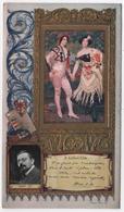 Chromo Gaufrée Dorure LEFEVRE UTILE LU  Henri ZO Peintre - Lu