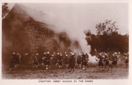 AO63 Runnymede Pageant RPPC, Chertsey Abbey Sacked By The Danes - Surrey