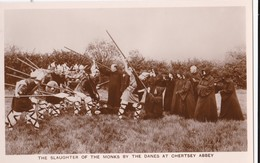 AO63 Runnymede Pageant RPPC, The Slaughter Of The Monks - Surrey