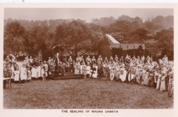 AO63 Runnymede Pageant RPPC, The Sealing Of Magna Charta - Surrey