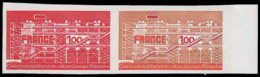 FRANCE Essais  1922 Paire D'essais En Rouge Et Polychrome, Bdf: Centre D'art Et De Culture Pompidou - Ensayos