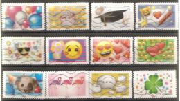 France 2018 Oblitéré Autoadhésif  N° 1558 à 1569  EMOJI Les Messagers De Vos émotions -  Série Complète - Adhésifs (autocollants)