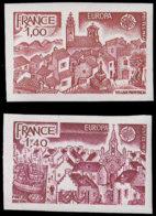 FRANCE Essais  1928/1929, Essais En Brun-rouge Et Brun: Europa 1977, Village Provencçal Et Port Breton - Essais
