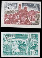 FRANCE Essais  1928/1929, Essais En Polychrome Et Vert: Europa 1977, Village Provencçal Et Port Breton - Proofs