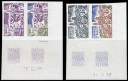 FRANCE Essais  1928/1929, Paires D'essais Dont 2 Polychromes, Cd 1977: Europa 1977, Village Provencçal Et Port Breton - Essais