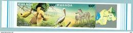 "Rwanda 1987 "" Superbe Série 2 Val. - Parc Akagera "" ND/ Imperf. RRR - Mnh*** - Stamps"