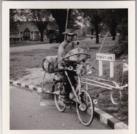 AQ13 Photograph - Man Cycling In Rowley Lane, May 1953 - Anonymous Persons