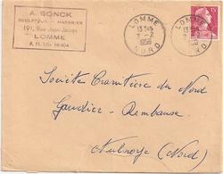 Enveloppe A. Sonck, Sculpteur Marbrier à Lomme, 1956, Timbre N°1011 - Other
