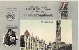 BRUGES - La Grand'Place - Mandat De Poste - Facteur - Brugge