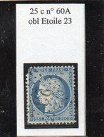 Paris - N° 60A (déf) Obl étoile 23 - 1871-1875 Ceres
