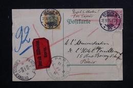 ALLEMAGNE - Carte Postale De Correspondance En Exprès Pour Hôtel à Paris En 1911 - L 23462 - Covers & Documents