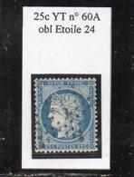 Paris - N° 60A Obl étoile 24 - 1871-1875 Ceres