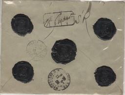 Lettre à Charge (550.FR ) Marly Le Roi_  Amsterdam- 5 Beaux Cachets De Cire Noir SFM13/06/1908 - Marcophilie (Lettres)