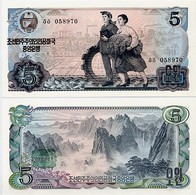 NORTH KOREA       5 Won      P-19b       1978       UNC - Corea Del Nord