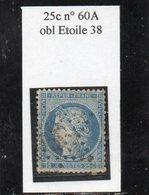 Paris - N° 60A Obl étoile 38 (bureau Rare) - 1871-1875 Ceres