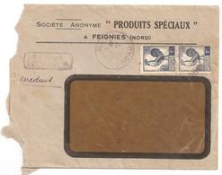 Enveloppe Société Produits Spéciaux à Feignies, 1944, Timbres N°640 - Other
