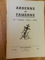 ARDENNE ET FAMENNE N° 4 DE 1962-PHOTO-PLAN DE L'EGLISE DE JEHONVILLE - Culture