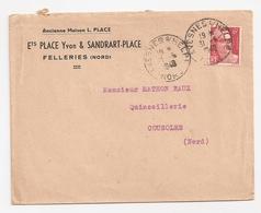 Enveloppe Ets Place Et Sandrart à Felleries, 1948 - Other