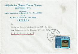 Portugal ,  1972 , ALFREDO SANTOS COTRIM SIMÕES Envelope , Pinhel Stamp 1970 , Setubal Postmark - Advertising