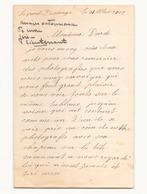 Correspondance Militaire Manuscrite Du Général Darde Du 18 Mai 1904 ? Le Port Divergny - Manuscrits