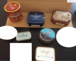Lot De 9 Boites En Fer (vides) Tabac Pour Pipes : Amphora-Signature-Davidoff (Royalty/Cool Mixture & Standard)-Larsen-Fl - Boites à Tabac Vides