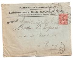 Enveloppe Ets Cacheux Et Cie à Denain, 1932, Timbre N°190 D Type IV - Other