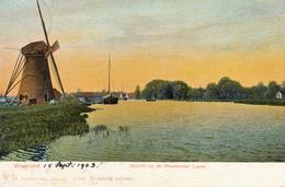 Warmond, Zwanenburgermolen, Windmill - Watermolens