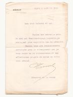 Correspondance Militaire Manuscrite Du Général Darde Lettre à En-tête Du Sénat à Paris Du 5 Janvier 1915 - Manuscripts