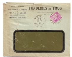 Enveloppe Fonderies De Foug, Pont à Mousson, 1934, Timbre N°281 - Other