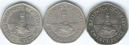 Jersey - Elizabeth II - 20 Pence - 1982 (KM53) 1983 (KM66) 2009 (KM107) - Jersey