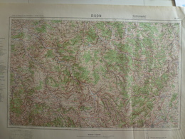 Carte Dijon 21 Côte D'Or 1936 Allemande - Cartes Topographiques