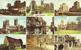 Canterbury (Kent) Views: The Invicta Engine, The Cathedral, The Weavers, Grey Friars, The Martydom, The West Gate - Canterbury