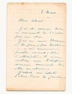 Correspondance Militaire Manuscrite Du Général Darde Du 3 Mars - Manuscrits