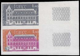 FRANCE Essais  2045 Paire D'essais En Noir Et Polychrome, Bdf: Abbaye De St. Germain Des Près - Proofs