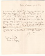 Correspondance Militaire Manuscrite Du Général Darde Du 14 Avril 1916 à Salies De Béarn - Manuscripts