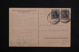 ALLEMAGNE - Carte Postale De Homberg Pour Düsseldorf En 1922 , Affranchissement Plaisant - L 23471 - Allemagne