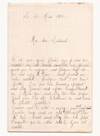 Correspondance Militaire Manuscrite Du Général Darde Du 14 Mars 1916 - Manuscripts