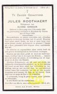 DP Jules Roothaert ° Bulskamp 1881 † Houtem Veurne 1931 X Elodie Gyselen - Devotion Images