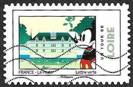 FRANCE 2018  - YT 1584 -  Mickey  - Loire   -   Oblitéré - Adhésifs (autocollants)